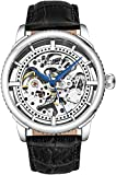 Stuhrling Original Mens'Specialty Winchester' Skeleton Automatic Self Winding Dress Watch with Premium Leather Band (Silver)