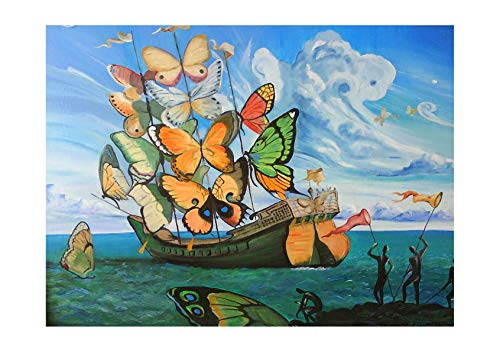 Spiffing Prints Salvador Dali - Butterfly Sails - Small - Semi Gloss - Unframed