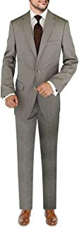 DTI BB Signature Italian Men's Wool Suit Set 3 Piece Jacket Pant Extra Trousers