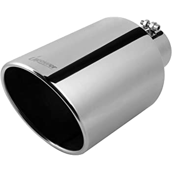 Rolled Angle Cut Design 9 Overall LengthTruck Tail Tip Polished LCGP 3 inlet 4.5 outlet Diesel Exhaust Tip With Clamp