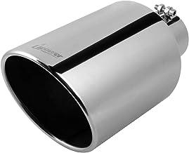 "Upower Universal ورودی 4 اینچ 8 اینچ 8 اگزوز خروجی 304 # استیل ضد زنگ 15 ""پیچ و مهره لوله بلند دم 45 - برش زاویه 45 درجه"