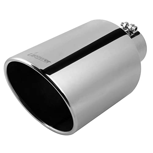 """SLANT CUT T304 STAINLESS STEEL Exhaust Tip 3/""""x18/"""" LONG Angle Cut 45 Degree"""