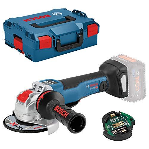Bosch Professional 18V System Akku Winkelschleifer GWX 18V-10 PSC (mit X-LOCK-Aufnahme, Leerlaufdrehzahl: 4.500 - 9.000 min-1, Scheiben-Ø: 125mm, ohne Akkus und Ladegerät, in L-BOXX)