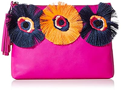 LOEFFLER RANDALL Tassel Pouch (Nappa/Embroidered Flowers)