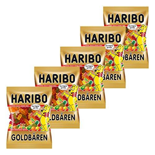 Haribo goldbären, 5Unidades, Ositos de Goma, Vino Goma, Golosinas, en Bolsa, Bolsa