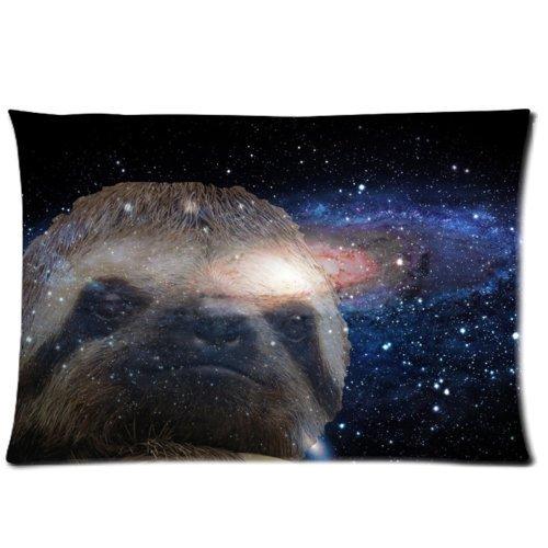 Huirong Kussensloop Design stijl Doek Simulatie Luik Nebula Galaxy Space Universe Kussenbeschermer, Beste Kussen Cover - standaard maat 20 X 30 inch Een kant afdrukken