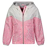 LONDON FOG Girls' Lightweight Mesh Lined Anorak Jacket, Pink Midweight, 10/12