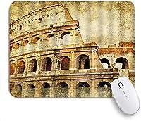 KAPANOU マウスパッド、古代ローマのシンボル世界的に有名な建物のヴィンテージプリント おしゃれ 耐久性が良い 滑り止めゴム底 ゲーミングなど適用 マウス 用ノートブックコンピュータマウスマット