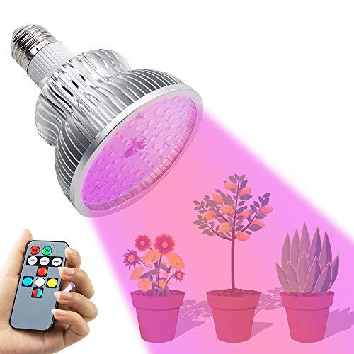 MENGS 50W LED Wachsen Lampe E27 Vollspektrum Pflanzenlicht für Garten Gewächshaus Zimmerpflanzen, Blüte, Blumen und Gemüse