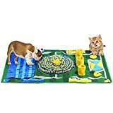 """Dog Snuffle Mat, Pet Feeding Mat for Small Large Dogs Nosework Blanket, Dog Training Mats Dog Activity Mat for Foraging Skill, Non-Slip Snuffle Mats Stress Release Machine Washable(39.2"""" x 25.8)"""