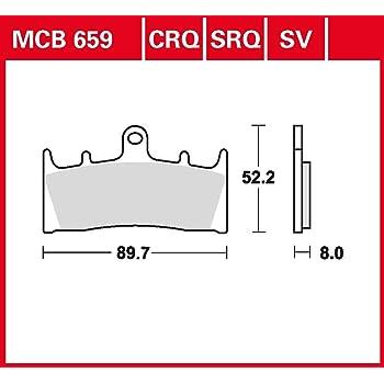 Bremsbelag TRW Sinter Street Hochleistungsbelag GSF 1200 Bandit S GV75A 96-00 vorne