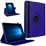 UC-Express Tablet Tasche 360° Drehbar Vodafone Tab Prime 7 Hülle Schutzhülle Universal Hülle Cover, Farben:Blau