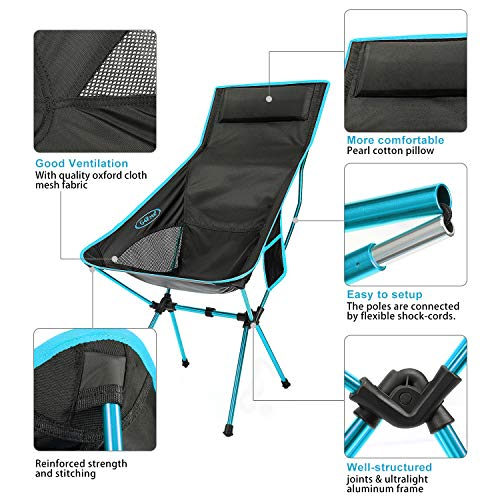 G4Free Upgraded Outdoor 2 Pack Camping Chair