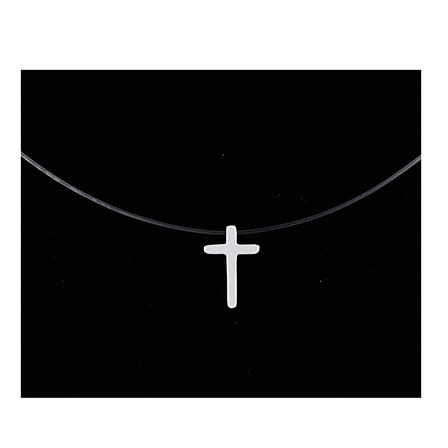 yStore1 Women Transparent Fishing Line Necklace Silver Invisible Chain Necklaces Pendants Rhinestone Choker Necklaces Collier Femme