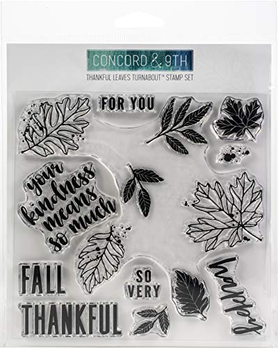 Concord & 9th Clear Stamps 6'X6'-Thankful Leaves Turnabout