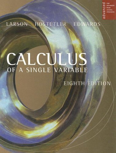 Calculus Of A Single Variable For Advanced High School Students, 8th Edition