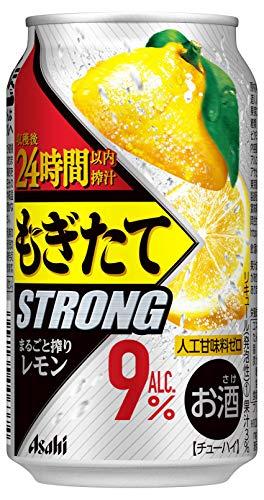 アサヒ もぎたてSTRONG まるごと搾りレモン [ チューハイ 350ml×24本 ]