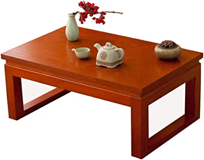 Coffee Table Solid Wood Table Tatami Bay Window Table Japanese Rectangular Table Zen Coffee Table Balcony Window Table (Size : 50x40x25cm)