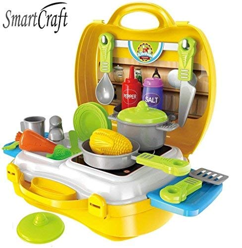 SmartcraftUltimateKidChefBringAlongKitchenCookingSuitcaseSet26Pieces-Multicolor