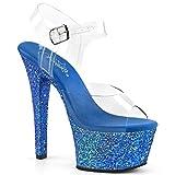 Bordello Giggle-02 Sexy Burlesco Zapatos de tacón Alto Mujer Sandalia - tamaño 36-43, US-Damen:EU-36 / US-6 / UK-3