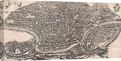 Art Print Cafe – Cuadro mapamundi en Canvas - Matthaus Mer