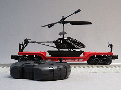 LIONEL NS First Responders FLATCAR & RC Helicopter #84493 o Gauge