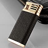 Auslese Dual Arc Plasma Luxury Electric Lighter Leather Covered Premium Design with Shake Ignition USB Rechargeable Windproof Flameless-Black