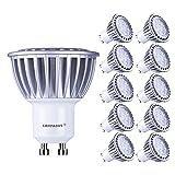 Lampaous gu10 led 7w Kaltweiss Leuchtmittel Led Lampe Spot Birnen ersetzt 70 Watt Halogenlampe 600lm 230V AC 10er Pack [Energieklasse A+]