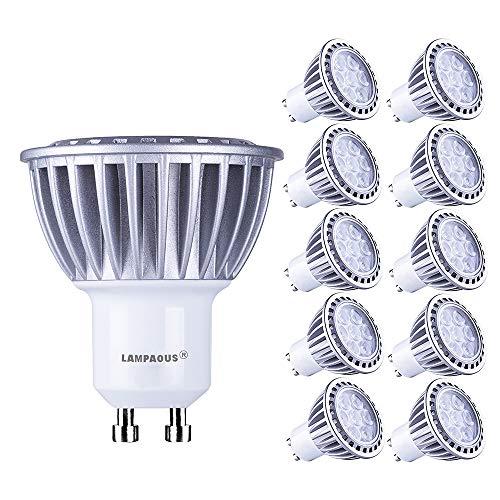 Lampaous gu10 led 7w warmweiss Leuchtmittel Led Lampe Spot Birnen ersetzt 70 Watt Halogenlampe 600lm 230V AC 10er Pack [Energieklasse A++]