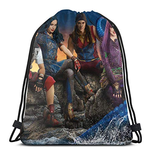 Yuanmeiju Descendants 3 Drawstring Backpack Is Portable, Large Capacity and Durable Classic Bolsa con cordón, Unisex, Suitable For Outdoor Sports