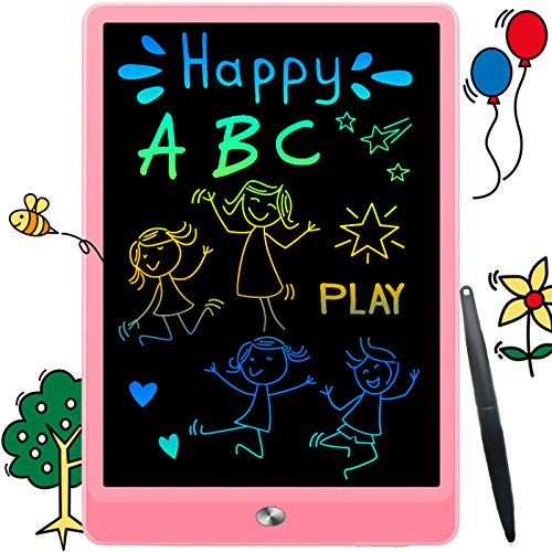 LCD Doodle Board Drawing Tablet 10 Inch, Erasable Reusable Writing Pad, is a Sketch Pad for Kids, Toddler Toys, Age 2 3 4 5 6 7 8 Year Old Girls & Boys - Educational and Learning Toys