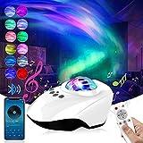 Proyector Estrellas, Proyector de Luz Estelar, Lámpara de Nocturna con Bluetooth y Remoto, 14 Modos Proyector LED Color...