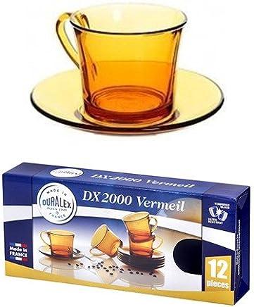 Preisvergleich für Duralex Vermeil Tasse mit Untertasse, 18 cl, 12-teiliges Set