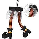 HOWAF Novelty Witch's Legs Decoration Sticking Out of Window Door Car Auto Trunk Outdoor Funny Decoration Christmas Halloween Fancy Costume Favor Supplies Accessories