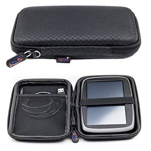 Schwarzes Schlank Hartschalentasche für TomTom Go Premium 6
