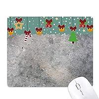 白と黒の大理石のアンティークのパターン ゲーム用スライドゴムのマウスパッドクリスマス