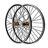 26 Pouces Frein en V Roues de Vélo, Aluminium Paroi Double Frein À Disque Hybride/VTT Roues de...