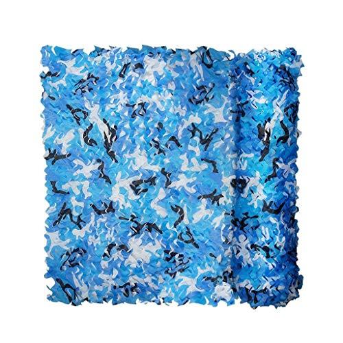 Voile D'ombrage pour Jardin, 3x5m 2m 4x8m Bleu Filet De Camouflage Écran Solaire Pare-Soleil Maille Toile pour Ombre Balcon Terrasse Protection Privée Abri De Voiture Couverte 5m 6m 7m 10m