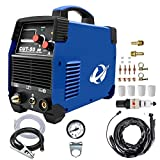 Plasma Cutter, CUT50 50 Amp 110V/220V/120V/240V Dual Voltage AC DC IGBT Cutting Machine with LCD Display and Accessories Tools