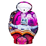 cshsb Hoodie Hombre Funny 3D Impresión de Patrones de DJ Unisex Pullover Manga Larga Sweater Hoody con Bolsillos Cordón,A,XXS-XS