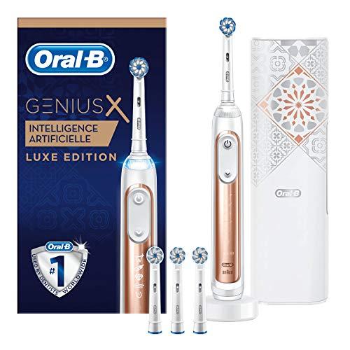 Oral-B Genius X 20000 Luxe Edition - Cepillo de Dientes Eléctrico Oro Rosa con Tecnología de Braun