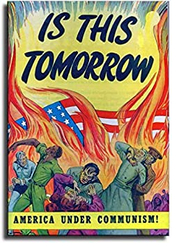 Anti Communist American Propaganda In 1950 Picture Poster Painting On Canvas Bedroom Wall Art Decoration Home Decor  No Framed,8x12inch