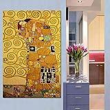 YIYEBAOFU DIY Pintar por números El Mejor Beso de Gustav Klimt impresión de la Pared del Arte en Pinturas de la Lona para la decoración del hogar Idea Arte de la pintura40x50cm(Sin Marco)