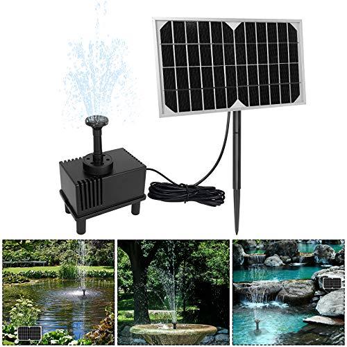 Aufun 5W Solarpumpe Teich Springbrunnen Teichpumpe Solar Bürstenlose Solarpumpe Solar Wasserspiel Fontäne Pumpe für Gartenteiche, Keine akku