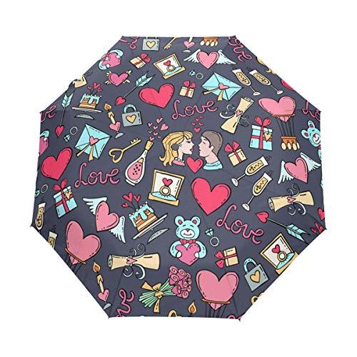Spitzentischler-Schneeflocke-Schattenbild-Anti-Uv-Regenschirm-Sonnenschirm-Auto-Öffnen/Schließen