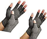 2 Pairs Arthritis Compression Gloves Provide Support and Warmth for Hands, Finger Joint, Relieve Pain from Rheumatoid Arthritis, Osteoarthritis, Carpal Tunnel (S)