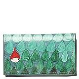 Photo de VIALESCARPE - GAZPACHO Portefeuille multi-poches, motif UNODISETTE, en PVC récupéré avec impression numérique, dos et intérieur peint à la main Dimensions : 8 x 2 x 14,50 cm Femme Multicolore TG. UNI