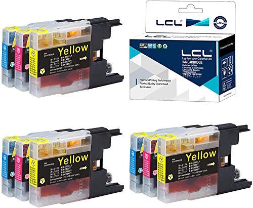 LCL Cartucho de Tinta Compatible LC1220 LC1240 LC1240C LC1240M LC1240Y (3Cian 3Magenta 3Amarillo) Reemplazo para Brother MFC-J6910CDW J6710CDW J5910CDW J825N J955DN J955DWN J705D J705DW J710D