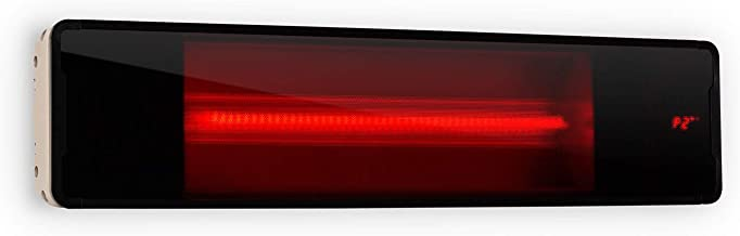 Blumfeldt Phantom - Radiador de Exterior, Calentador Radiante, Calor infrarrojo, Potencia 2 Niveles, Sistema IR-ComfortHeat, Temporizador de Apagado, Vidrio Schott, Aluminio