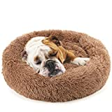 NOYAL Donut Dog Cat Bed, Soft Plush Pet Cushion, Anti-Slip Machine Washable Self-Warming Pet Bed - Improved Sleep for Cats Small Medium Dogs (Multiple Sizes)